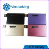Vara feita sob encomenda do USB do cartão de crédito da movimentação do flash do USB do logotipo
