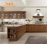 N&Lの中国の工場卸売の安い純木の食器棚