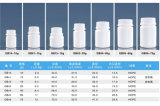 l'obbligazione 80ml ricopre la bottiglia di plastica dell'HDPE per le pillole, i ridurre in pani, la capsula, imballaggio delle vitamine