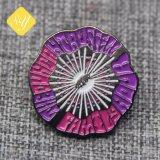 良質の金属によってカスタマイズされる紫色の花のケシのバッジ