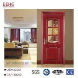 Double Swing Solid Wood Doo Design Frosted Tempered Knell