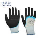 13G de zandige Handschoenen van de Veiligheid met Vinger Versterkt Met een laag bedekt Nitril