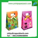 Preciosa boda caramelos personalizados o pastel de Navidad Regalo bolsa de papel con asa de troquel
