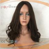 Человеческого волоса стороны связаны кружевом Wig коричневого цвета (PPG-l-0014)