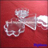 Contenitore triangolare libero di petalo di vetro di quarzo