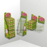 Promoción de supermercado 4 niveles con fideos piso de madera Soporte de pantalla
