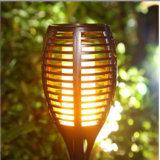 태양 토치 램프 잔디밭 정원 옥외 LED 가벼운 태양 LED 빛