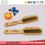 Peigne à cheveux en bois personnalisé bon marché pour les femmes de la brosse