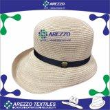 Chapéu de palha do papel da cubeta das mulheres (AZ010B)