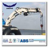 Kraan van het Dek van het Schip van de Boom van Haoyo de Hydraulische Vouwbare Telescopische Mariene
