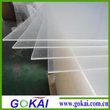 Hoja clara y blanca transparente del plexiglás