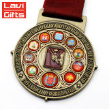 중국 제조자 주문 금속 판매에 웅대한 에나멜을 입힌 음악 메달