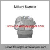 中国の卸し売り安い軍の青い警察の羊毛アクリルの軍隊のカーディガン