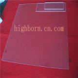 薄い長方形の水晶ガラス板