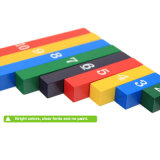 La forme géométrique en bois colorée bloque les jouets éducatifs d'enfants préscolaires de puzzle