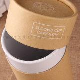 Boîtes en carton rondes d'impression de logo de couleur de Brown
