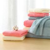 De zachte hand-Voelende Stevige Dobby 100%Cotton Reeks van de Badhanddoek (02Y0012)
