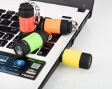 Keychain 소형 LED 마이크로 LED 토치 빛을%s 가진 USB 재충전용 플래쉬 등