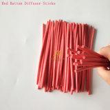 Bastone popolare rosso di fragranza del rattan per il diffusore domestico della canna di fragranza
