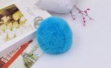 Fourrure de lapin réel Trousseau Accessoires de cheveux Pompom pour sac de charme