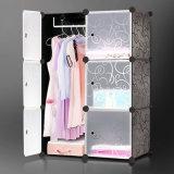 Garderobe van de Kleur van het Kabinet van de Garderobe van de slaapkamer de Moderne Vouwbare Eenvoudige Plastic