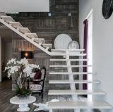 Disegno diritto della scala del fascio del doppio piatto della scala dell'impronta alla moda moderna di legno solido