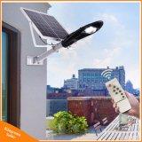 Panneau solaire Powered Lampe de Jardin 20W Rue lumière à LED pour éclairage extérieur avec télécommande