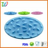 FDA LFGB Kom van Dishs van de Hond van de Kat van het Voer van het Silicone de Langzame
