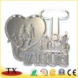 I coração turístico de Boston Loja 3D metal magneto frigorífico