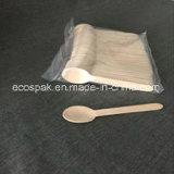 158mm biodegradables de madera Cuchara de té