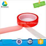 Delgado de doble cara Transparente adhesivo acrílico de 200mil cintas de Pet (por6965R)