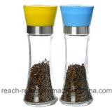 Стекло перца соли мельницы для измельчения сочных продуктов на кухне (R-6051)
