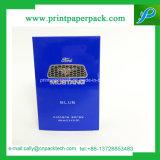 Casella di qualità superiore lucida cosmetica rigida blu scuro