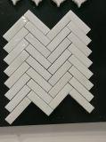 Mosaico de mármol irregular del mosaico de mármol blanco para la pared