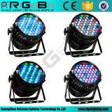 54LEDs 3W RGBW 옥외 초점 Die-Cast 알루미늄 동위 빛