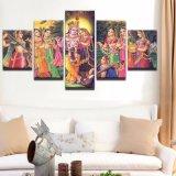 HD het Schilderen van het Canvas van af:drukken de Stok van het Beeld op Muur 5 de Mythe van India van het Comité Lord Krishna Painting Vishnu voor het Decor van het Huis van de Woonkamer