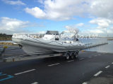 8.3m Fiberlgassの堅く膨脹可能な漁船の肋骨のボートのヨット