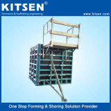 Systeem van de Bekisting van de Muur van het Triplex van Kitsen het Aluminium Frame