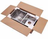 Taça Duplo Moderno R30 Aço Inoxidável 304 pia de cozinha