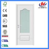 Дверь Veneer ванной комнаты деревянная отлитая в форму французская стеклянная (JHK-G08)