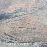 Mattonelle di pavimentazione rosse del granito del cubo del mattone del granito della fiamma della Cina Juparana