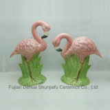 Het ceramische Beeldje van de Flamingo van het Gazon voor Decoratie