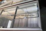 Верхнюю часть стекла боковой сдвижной двери глубокую морозильник островных дисплей морозильной камере в сочетании прямое охлаждение