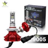 Três cor 3000K 6500K 8000K H7 H11 H13 9006 9007 jogo novo do farol do diodo emissor de luz H4 9005