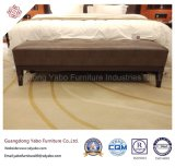 Elegante Hotel-Schlafzimmer-Möbel mit ledernem Bett-Prüftisch (YB-E-20)