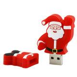 2GB Santa Claus Stick USB presente de Natal mais baratas Pen Drive