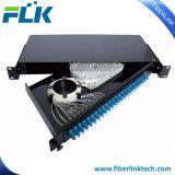 FC SC LC St Adaptador de Fibra Óptica Tipo Giro da estrutura de distribuição de montagem em rack ODF Patch Panel