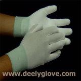 Перчатки безопасности полиэфира белой ладони PU Coated белые