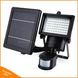 De openlucht Zonne Lichte van 60 LEDs Lamp van de Veiligheid van de Muur van de Deur van de Detector van de pir- Motie