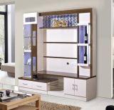 Stand en bois de la salle de séjour TV de deux buffets avec la porte